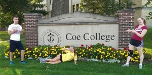 Kenni at Coe College, her first school in Iowa
